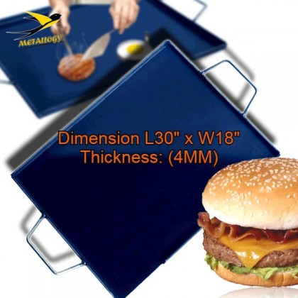 Grilled Rectangular Hot Plate Pan - Thick (4MM/3MM)