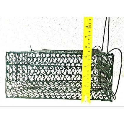 Metallogy Rat Mouse Trap Cage / Snap Mouse Animal Catcher / Rumah Perangkap Tikus L27.95 Cm X W17.80Cm X H12.70 Cm
