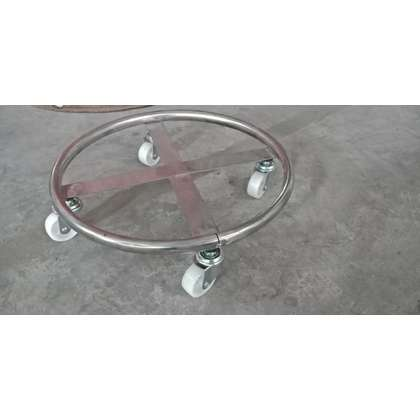 Metallogy 4 Nylon Wheel Stainless Steel Gas Tank Roller - GAS 007 S