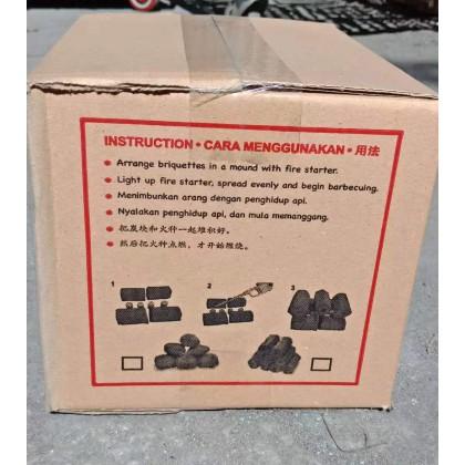 Metallogy Flammable Hexagonal Charcoal - CHARCOAL 001/CHARCOAL 005