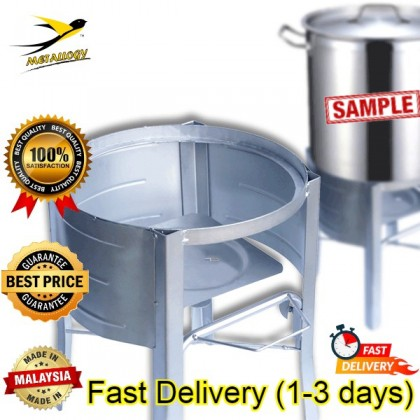 Metallogy Kitchen Gas Stove Stand Kuali Dapur Stand Stove Steel Wok Gas Water Boiler Drum Pots Dapur Gas Stove Stand