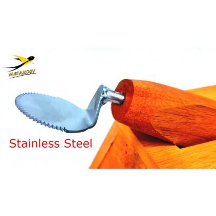 Metallogy Coconut Grater/ Stainless Steel Coconut Shaver Scraper/ Dapur Kelapa Parut/ Pengorek Kelapa/ Pemarut Kelapa