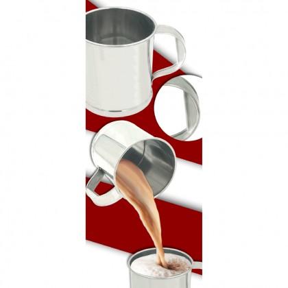 Metallogy 2.25 Litre Stainless Steel Mug/Cawan Besi / Teh Tarik Mug With D Shape Handle Kopitiam